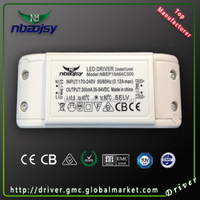 TUV approved Constant current Iwatt ic 12W 500mA IP20 led driver