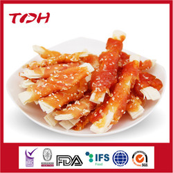 Nutritious Dog Food Dog Snack Dog Treat pet food mixed food crystal chicken wrap 12.5cm cod strip with sesame.