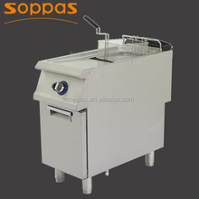 high quality new stainless steel lpg natural gas deep fryer for restaurant