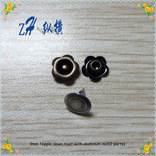 9.5mm decorate rivet button for jeans ,custom rivet button jeans