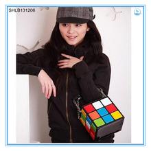 Tetris Shap Lady Handbag Color cube magic lady handbag