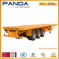 Pandamech 3 axles flatbed transport vehicle haulage vehicle transport trailer sales for port and road transport+86-13245404900