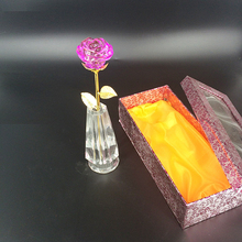 New Design Flower Crystal Vase for Wedding Table