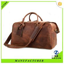 Custom high quality travel leather bag gym bag wholesale
