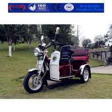 easy controling dark red three wheel handicapped scooter for the elderly