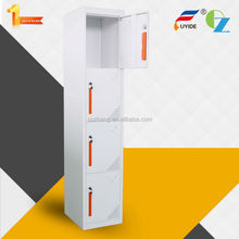 Luoyang manufacture direct sale 4 compartment Steel Cabinet Clothes Locker