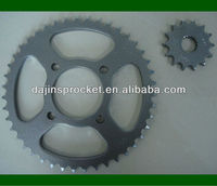 Dajin C45S motorcycle rear and front sprocket with ISO & ANSI standard
