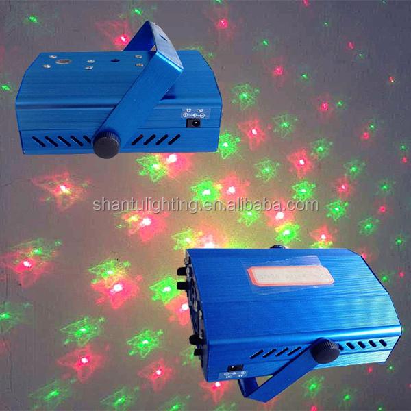SanTu marca Fase di Illuminazione Rosso Verde Sei Immagini Mini Indoor Multi-Pattern Disco Casa Del Partito della Luce Laser