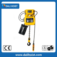New Portable Small 3 Phase Motor Electric Trolley Construction Lift Machine Black Bear Electric Chain Hoist