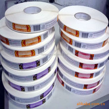 custom adhesive packaging sticker in roll