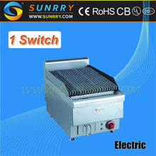 Counter top electric char grill with lava rock broiler and electric grill pan (SUNRRY SY-LR400A)