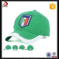 100% Cotton custom formal hat type green baseball cap panel