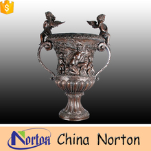 made in China high quality garden angel statue bronze flower pot NTBF-FL155S