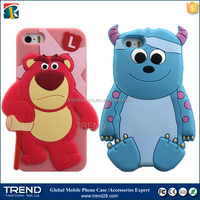 2015 new-designed cartoon 3d silicone phone case for iphone 5 5s