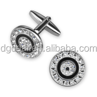 New design fashion round rhinestone men cufflinks novelty cufflinks