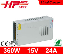2015 new product 2-year warranty power supply steady CE RoHS approved 360w 15v power supply lcd lg tv