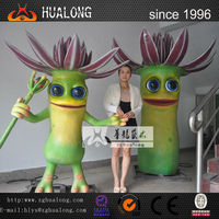 2M high moving cartoon character