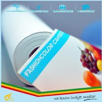"""wholesale price 350gsm eco solvent waterproof self adhesive canvas 60""""*30m"""