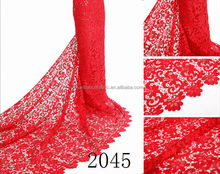 Super big swiss cotton voile lace for party red color 2045 new fashion design
