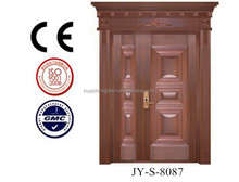 Front double office copper door design JY-S-8087