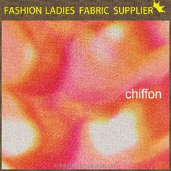 printed chiffon kurtis made in china rainbow chiffon fabric dress chiffon