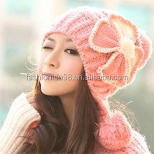 pattern knit hat knight helmet,whosale winter women knitted ball pattern knit hat knight helmet