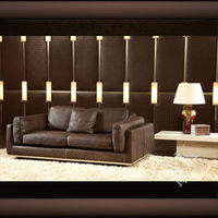 Leather trend furniture HD-153, soft line leather sofas