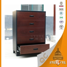 Modern office furniture wooden style transfer print lateral vertical office filing cabinet