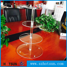 acrylic decorative folding wedding cake stand for weding