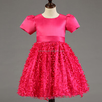sunwing 4 colors chrismas tree straps swing children frocks designs baby girl party dress