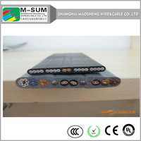 elevator cable manufacture lift electric parts travel cable/flat flexible cables for elevators