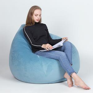 2019 azul cielo cómodo en forma de pera gigante de gota de lágrima de bolsa de frijol sillas a granel puff fundas desmontables