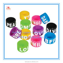 Customized Silicone o Ring, New Style Fashion Silicone Finger Ring