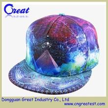 Custom Colorful Egypt Pattern 6 Panel Polyester Snapback Hats