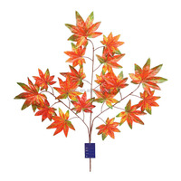YSL0002 high quality 3 branches artificial mapleleaf hot sale wholesale decoration maple leaves branches