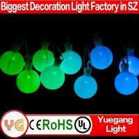 110V UL certificated multi color outdoor hanging led light balls color changing led ball light string