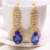 European And American Style Crystal Rhinestone Drop Earrings