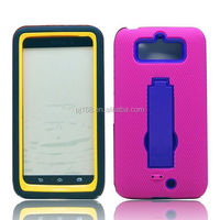 PC + Silicone combo robot hybird kickstand case for Blackberry 9900 9930