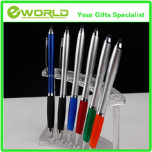 Logo Printing Plastic Fat Stylus Touch Ballpoint Pen