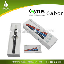 Refillable e-cigarette Cyrus saber 2in 1kit rebuildable vaporizer pen for wax & eliquid