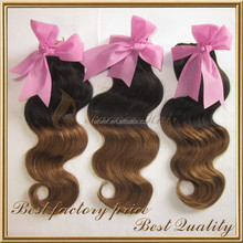 Natrual color mixed brown 100% remy vigin peruvian virgin hair crochet hair extension, superior quality ombre hair