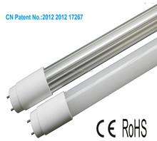 100lm/w t8 white led tube light patent design t8 waterproof led tube