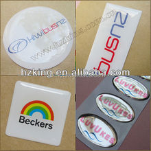 Non-yellowing,water resistant and fade-proof dome sticker