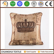 European style cotton linen digital printing cushion cover for sofa