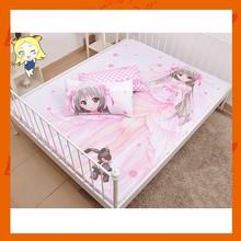 Personalized Custom Japanese Anime Girl Printed Designer Bedsheet 150x200cm