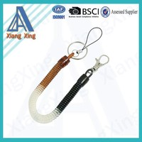 Mix Color Lobster Clasp Stretchy Spring Coiled Strap Lanyard Keyring