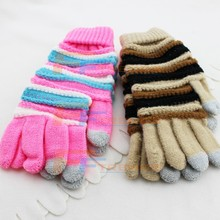 2015 Wholesale Smart Phone Touch Screen Glove, Touch Gloves With Multilayer Stripe ,Touch Gloves for Smart Phone
