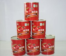 health food 100% purity canned tomato paste/tomato sauce/ketchup factory 3.0kg*6tins/ctn