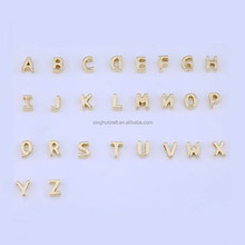 Cheap gold jewelry alphabet letters charms on china hip hop jewelry