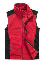 Popular Style Sports Men's vest coat Main Color Red Polar Fleece Double Brush,Anti-pilling one side OEM